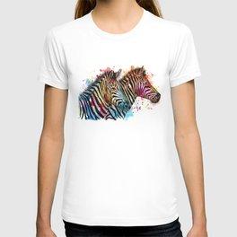 Sunset Zebras T-shirt