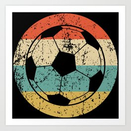 Retro Soccer Ball Icon Art Print
