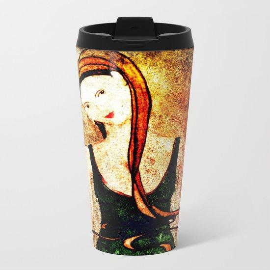 Ocean Blessing, Heart Of A Mermaid Metal Travel Mug