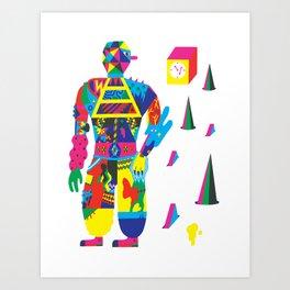 The Raver Art Print