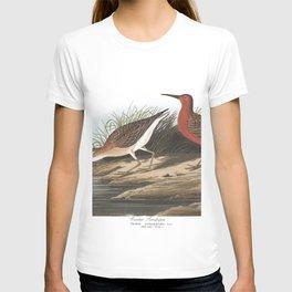 Curlew sandpiper, Birds of America, Audubon Plate 263 T-shirt