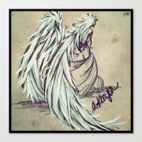 angel wings Canvas Prints featuring Angel Wings by Buttercream Art