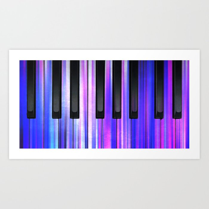 Purple Moody Blue Piano Keys Art Print by melodyrosemedia