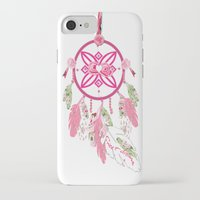 shabby chic iPhone & iPod Cases featuring Shabby Chic Dream Catcher by KarenHarveyCox