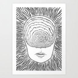 Inward Spiral Art Print