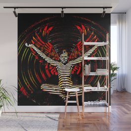 0395s-PDJ Sensual Angel with Red Wings Woman Empowered as Succubus Wall Mural