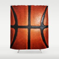 lakers Shower Curtains featuring Basketball by alifart