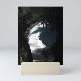 Black Sands of Hawaii Mini Art Print