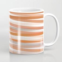 Fall Orange brown Neutral stripes Minimalist Coffee Mug