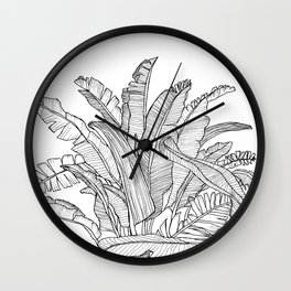 Palm Beach - Black and White Wall Clock
