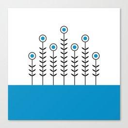 Spring Shoots (Swedish Blue) Canvas Print