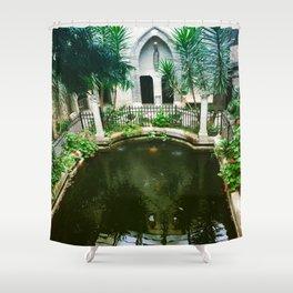 Pool at Hammond castle Shower Curtain