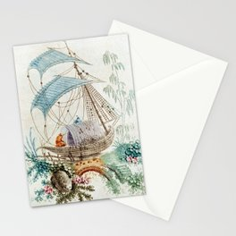 Chinoiserie Embroidery Stationery Cards