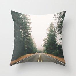 Follow the Road Throw Pillow