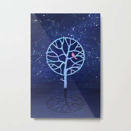 Nightingale tree Metal Print