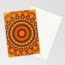 Mandala bright yellow Stationery Cards