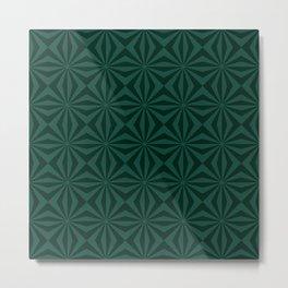 Sunbeams in Green tiled Metal Print