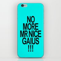 battlestar iPhone & iPod Skins featuring No More Mr. Nice Gaius! by AJnG