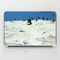 skiing iPad Cases featuring Spring Skiing on Superstar by BACK to THE ROOTS