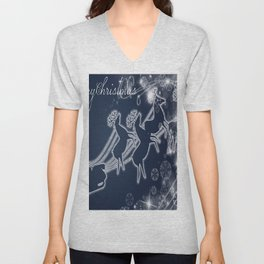 illustrations raindeer Unisex V-Neck