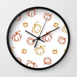 Pumpkin life Wall Clock