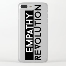 Empathy Revolution Clear iPhone Case