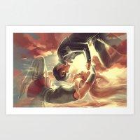 sword art online Art Prints featuring Sword Art Online by Attyca