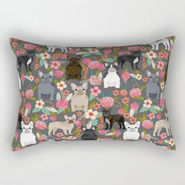 French Bulldog must have florals gifts dog breed pet lover frenchies forever Rectangular Pillow