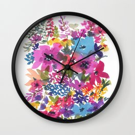 Wildflower Party Wall Clock