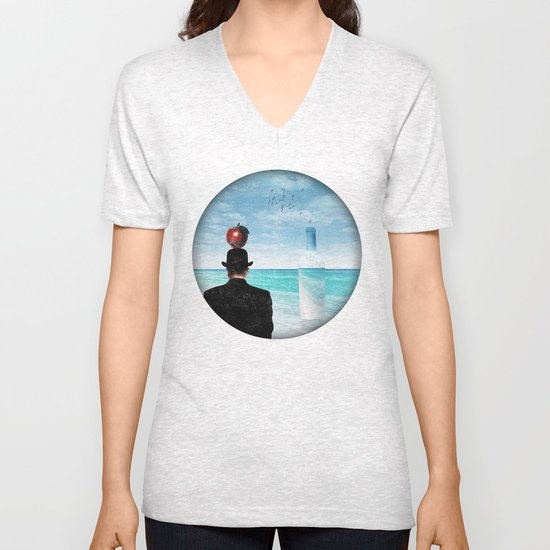 René at the beach Unisex V-Neck