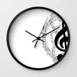 Musical Note Wall Clock