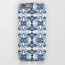 BLUE ABSTRACT LEAVES iPhone Case