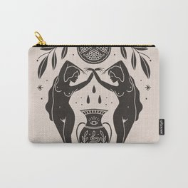 Persephone - Black Carry-All Pouch