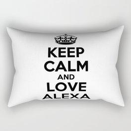 Keep calm and love ALEXA Rectangular Pillow