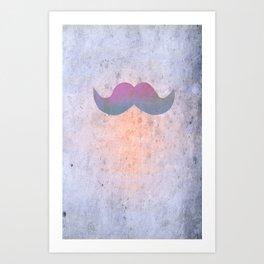 Pink stache Art Print