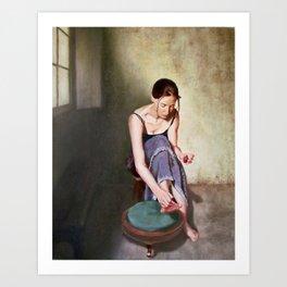 Painting Toenails Art Print