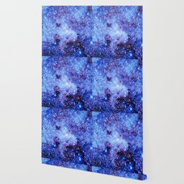 GAlaxy Periwinkle Stars Wallpaper