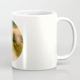 Mid Century Modern Round Circle Photo Graphic Design Foggy Green Country Landscape Coffee Mug