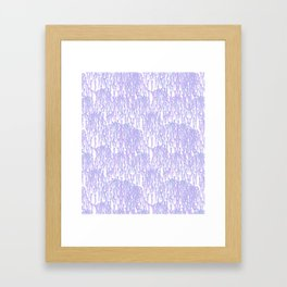 Cascading Wisteria in Lilac + White Framed Art Print