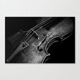 Black and White Violin Canvas Print