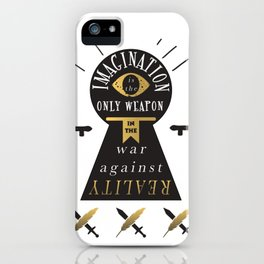 Imagination Is The Best Weapon iPhone Case