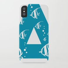 A is for Angelfish - Animal Alphabet Series Slim Case iPhone X