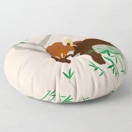 Snoozing Red Panda Floor Pillow