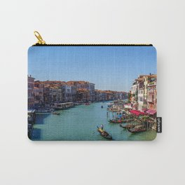 Venice canal with boats & gondola   Italy (Europe)   Colorful Travel Photography Carry-All Pouch
