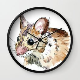 Little Brown Mouse Wall Clock