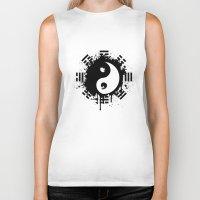 yin yang Biker Tanks featuring Yin Yang by Emir Simsek