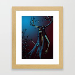 Horned One Framed Art Print