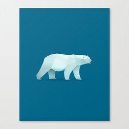 Geometric Polar Bear - Modern Animal Art Canvas Print