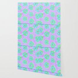 Dayglow Aqua Petal Rose Wallpaper