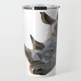 Low poly Rhinocerous Travel Mug